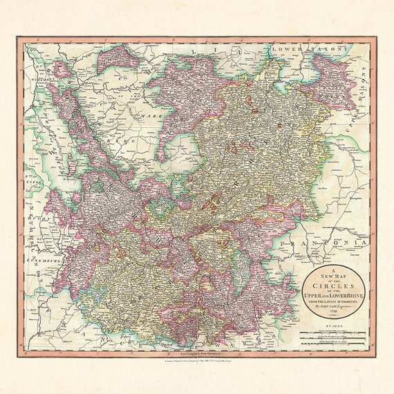 Map Of Germany To Print.Antique Germany Map Print Antique Wall Art Map Of Germany 1799