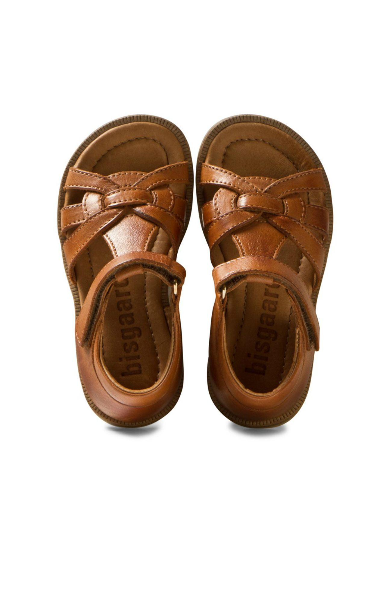 5595b6e3 Cognac Leather Sandals | Bisgaard | Fashion for Kids | Kids sandals ...