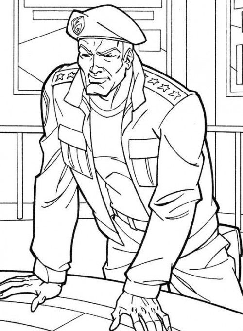 The Commander Of The Gi Joe Coloring Pages | Coloring ...