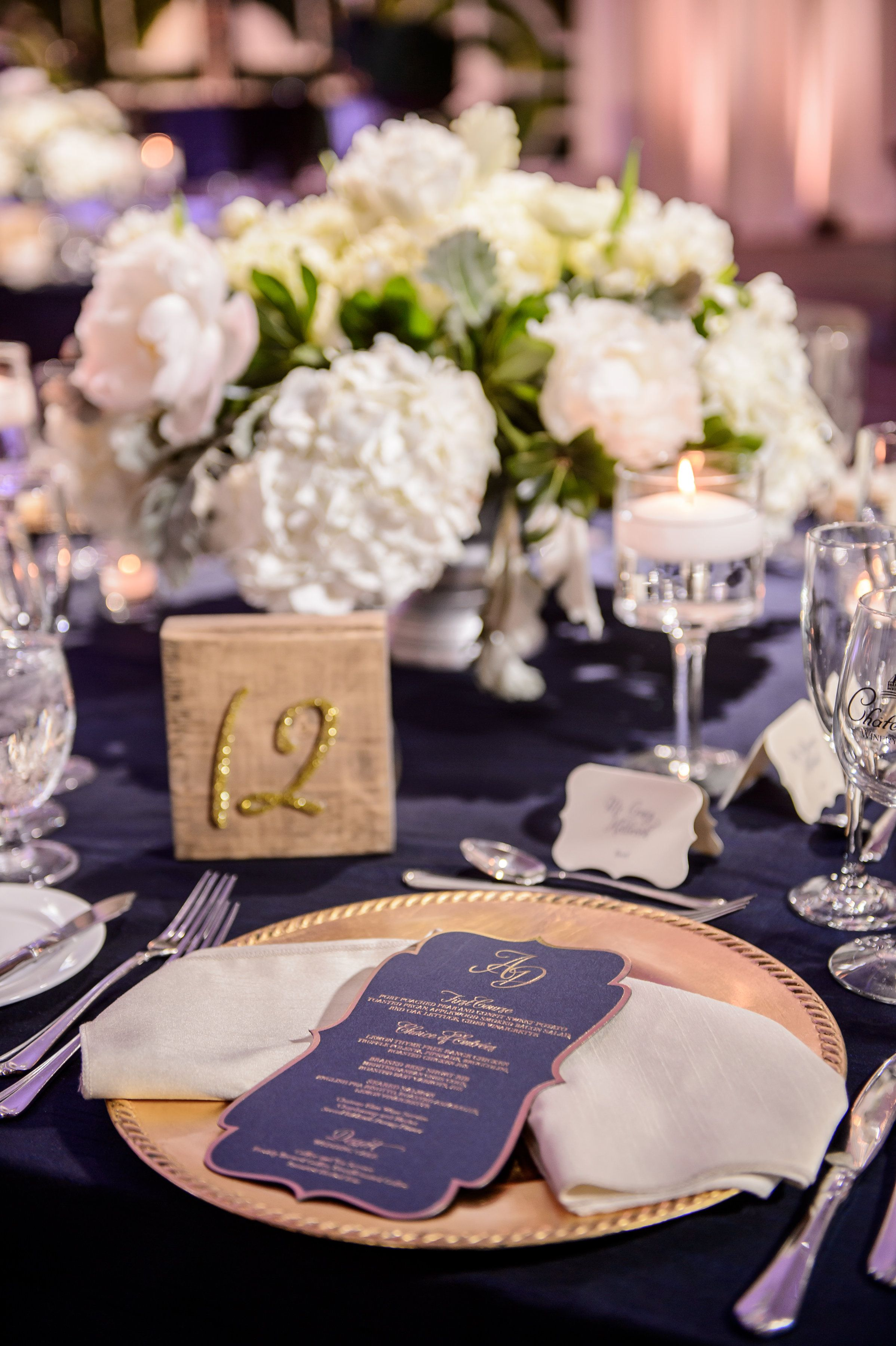 Over the top wedding decorations  Wedding reception table decor designed by Edge Design Group featured