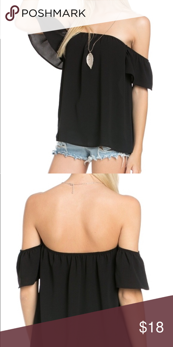 67e1bfb5421321 Cute off shoulder top in black Meet your new favorite top. An off-the- shoulder design adds modern appeal to your look, while a breezy cut looks  fresh and ...