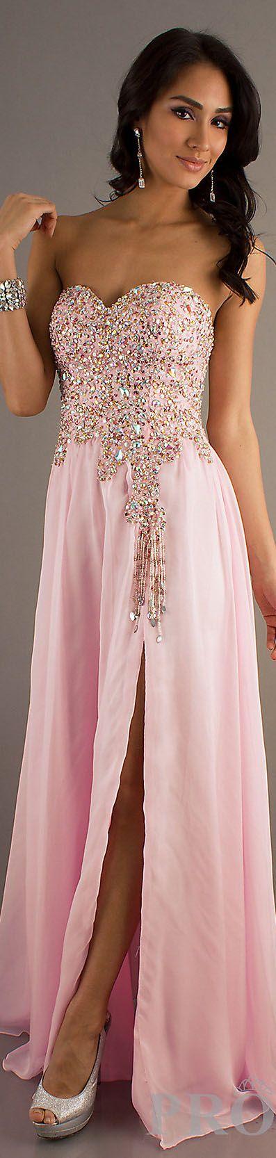 Fashion long formal dress #strapless #pink #sexy #glitter | vestidos ...