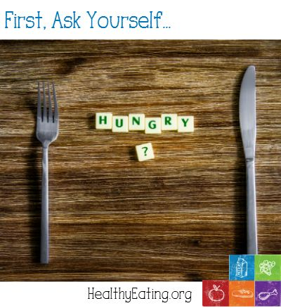 how to stop yourself from eating when hungry