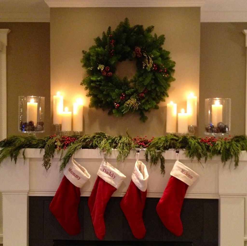 My Christmas Mantel With Stockings Sources All Available On The