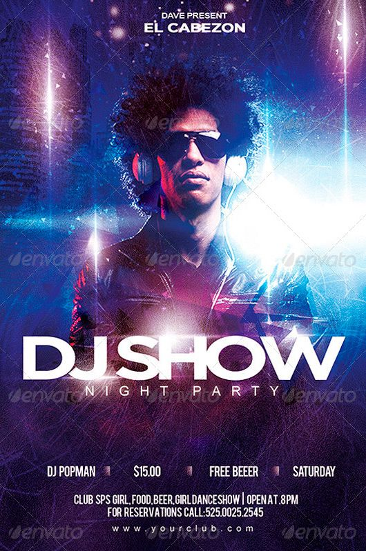 Electro Dj Music Guest Flyer Psd Template Httpffflyer