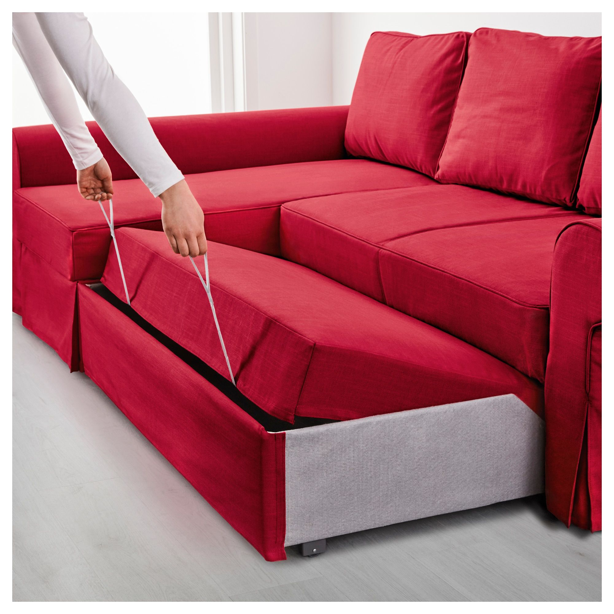 Ledersofa Ikea Rot Backabro Bettsofa Recamiere Nordvalla Rot In 2019 Products