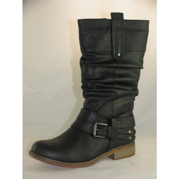 Womens Rieker 95672-00 Black Smart Zip