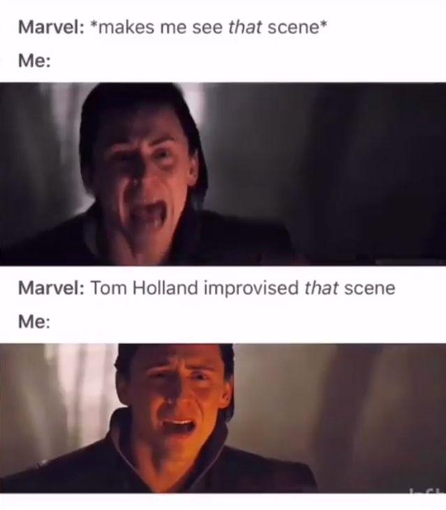 Infinity War Peter Parker Tom Holland Marvel