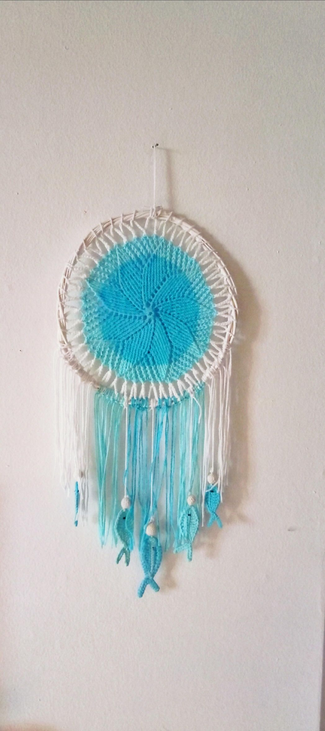 Magical dream catcher with hanging fishes symbols for handmade magical dream catcher with hanging fishes symbols for buycottarizona