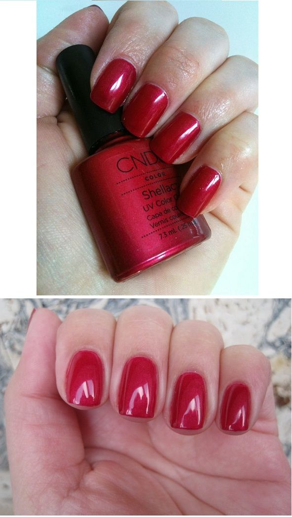 Perfect Christmas And Valentine S Day Color Cnd Shellac Red Baroness Cnd Shellac Colors