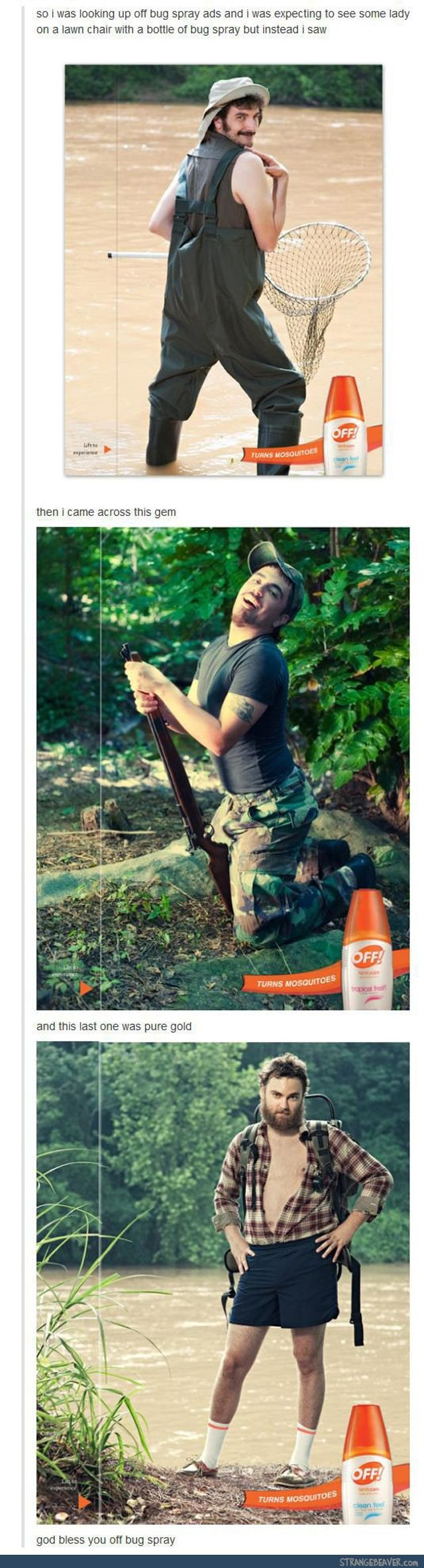 Bug Spray Ad Done Right - funny tumblr post