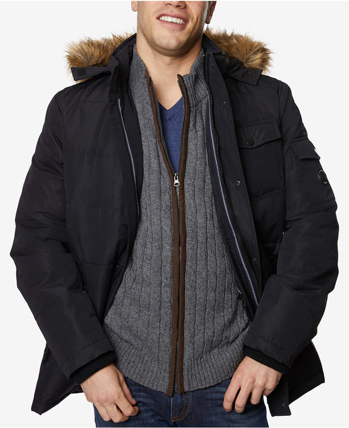 a523331e6 Nautica Men Quilted Hooded Parka | Products | Hooded parka, Parka ...