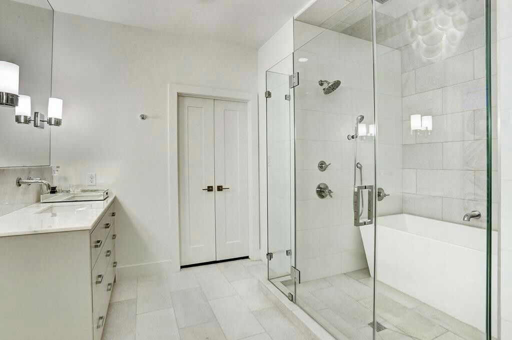 Narrow Freestanding Bathtub Inside Walk In Shower With Images
