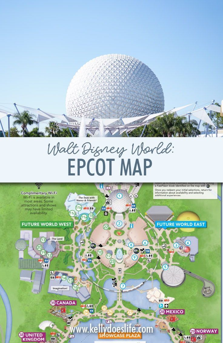 Epcot map walt disney world updated july 2020 epcot