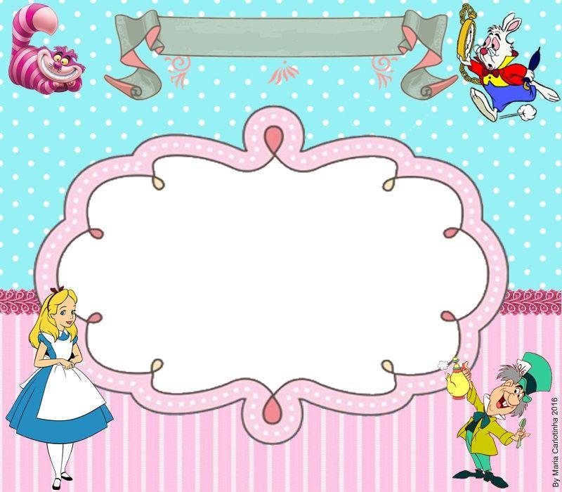 Festas Infantis Com Imagens Molde Alice No Pais Das Maravilhas