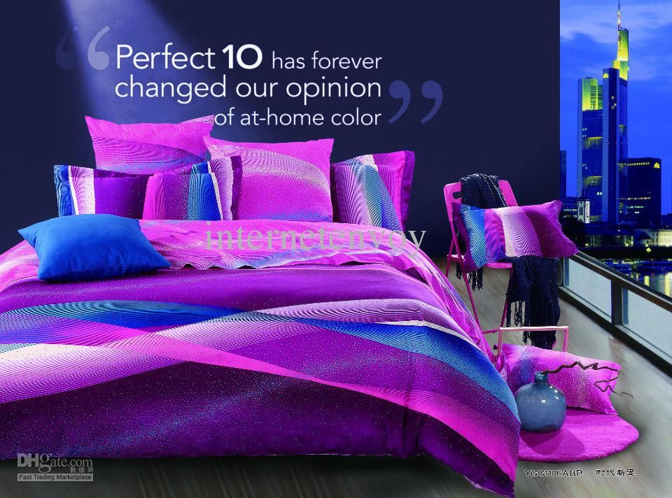 Wholesale snug purple 100 egyptian cotton full/queen