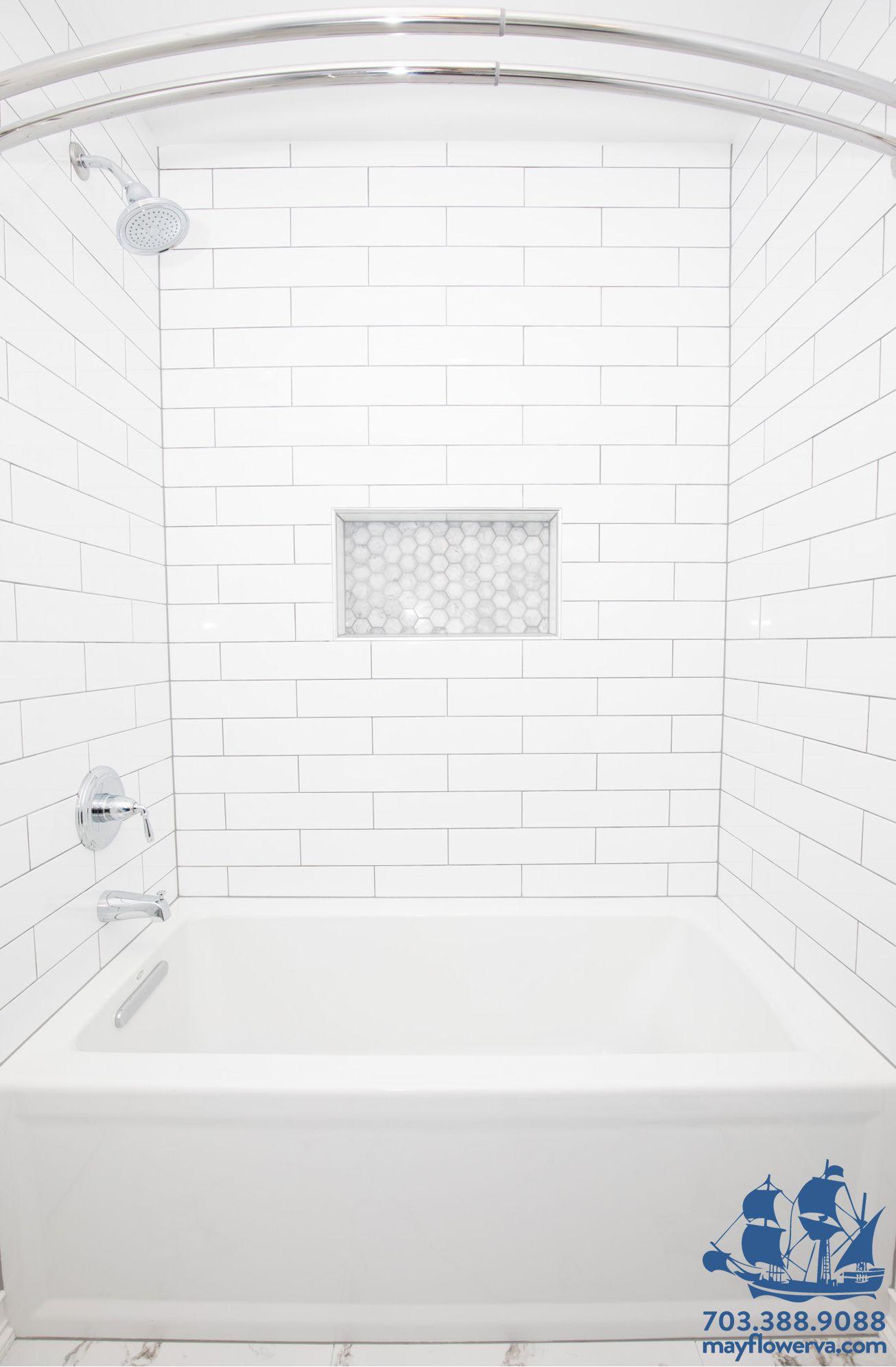 #Bathroominspiration #Modernbathroom #Whitebathroom #Renovation #Interiordesign #Mayflowerconstruction #Designideas #Bathroomideas