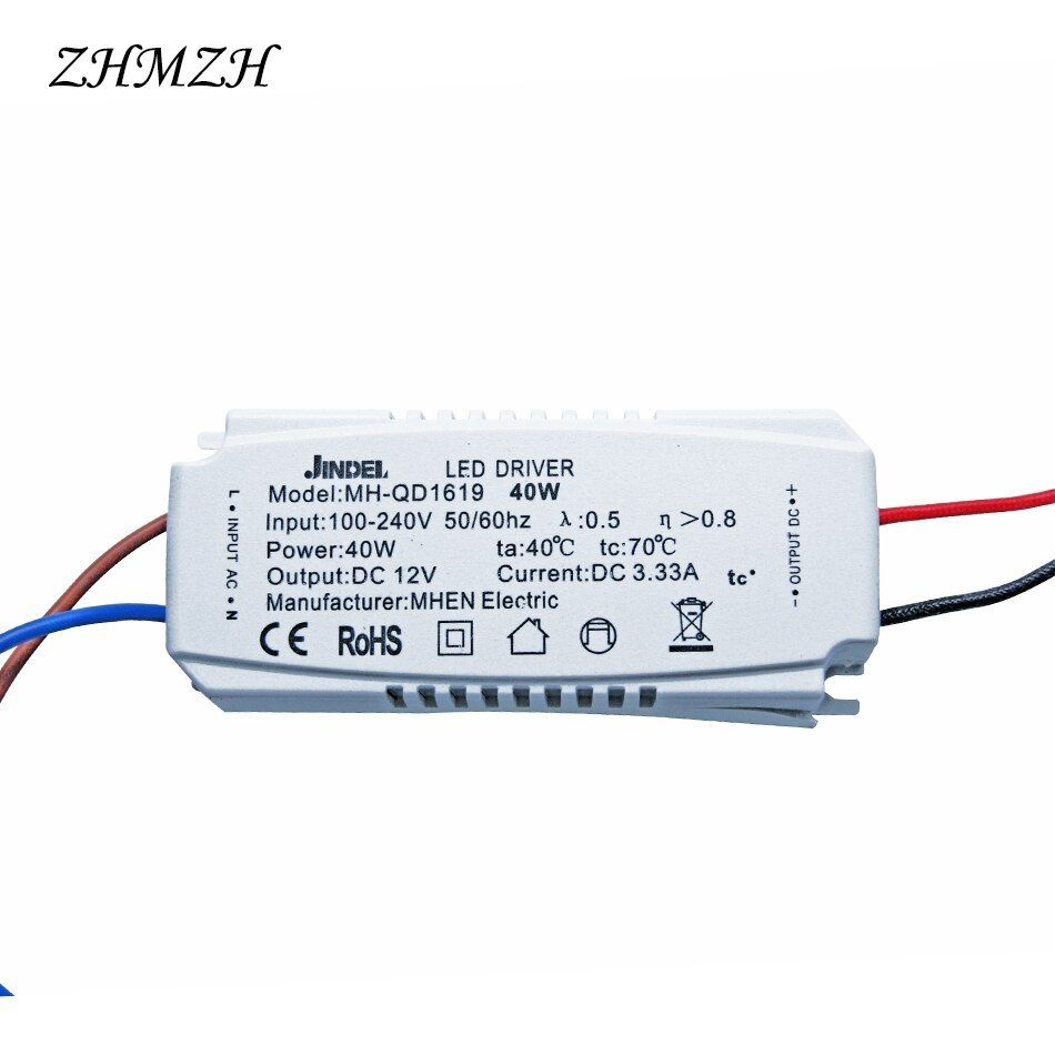 Ac 100 240v To Dc12v Constant Voltage Led Driver 12w 20w 40w 60w 100w Direct Current Power Supply Ce For G4 G5 3 Led Lamp Bead 100 Led Drivers Led Lamp Power
