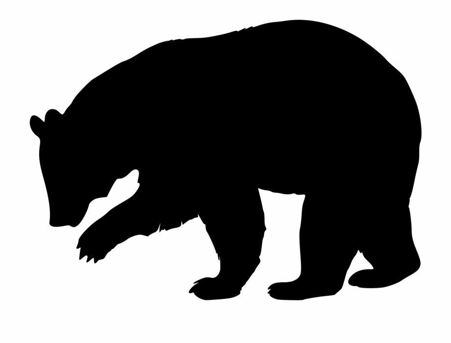 Black Bear Silhouette Icons Png Black Bear Silhouette Png Transparent Png Is A Free Transparent Png Image Sear Bear Silhouette Black Bear Bear Illustration