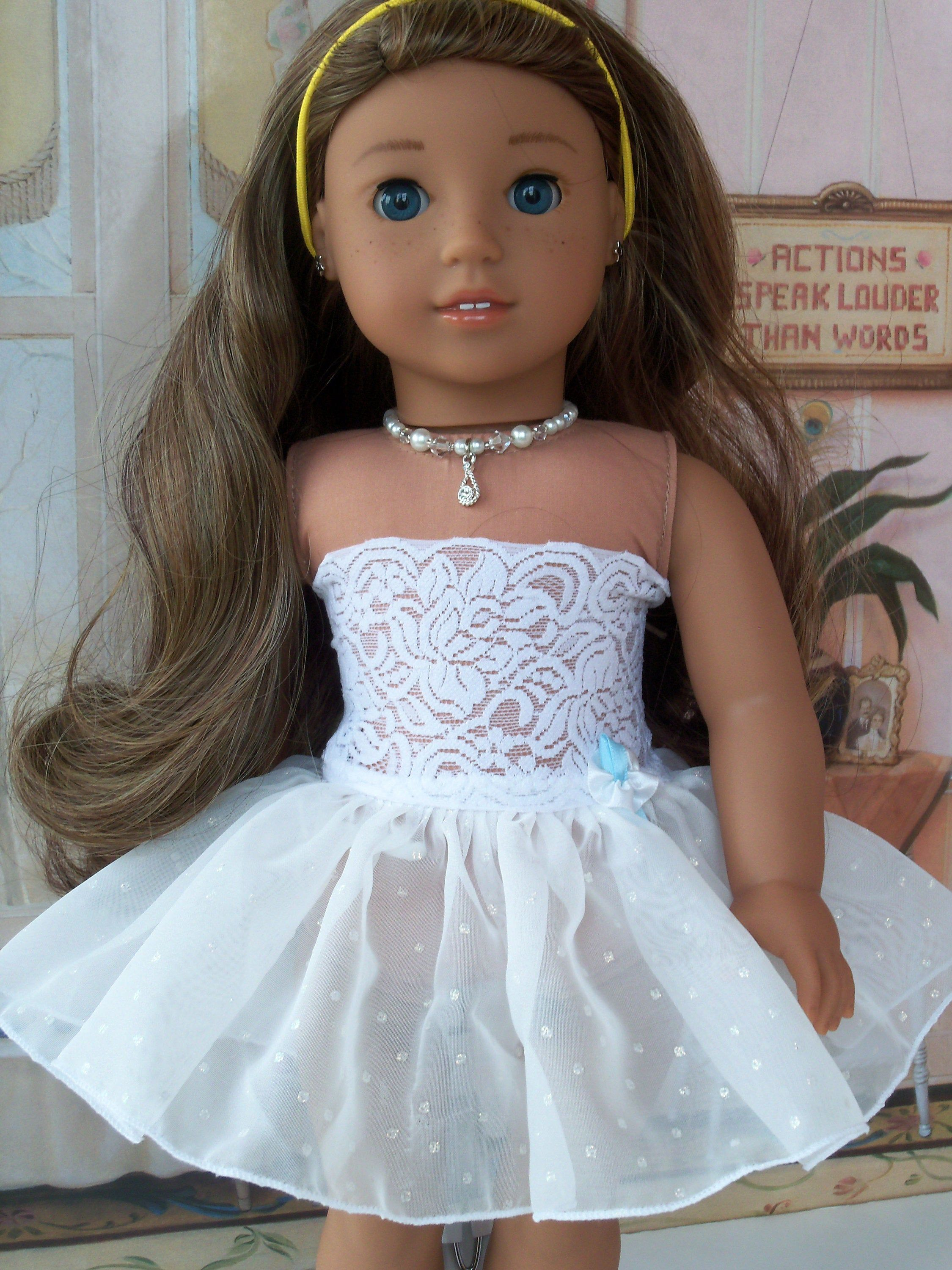 Like American Girl Doll Clothes / Fancy Slip with Attached Strapless Cami / Farmcookies 18 Inch Clothes #americandolls