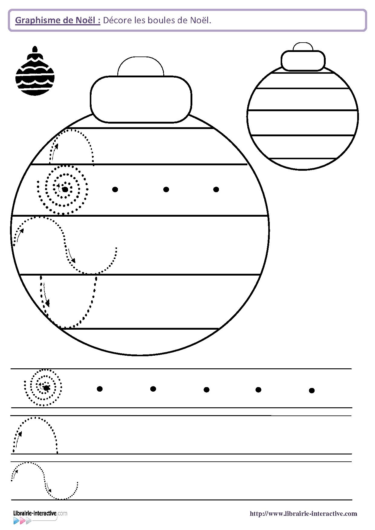 22 fiches de graphisme sur le th me de no l pour les l ves de maternelle moyenne section et - Activite de noel maternelle ...