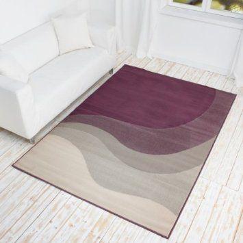 Designer Teppich La Onda - Kurzflor Teppich mit Wellen Muster - teppiche für die küche