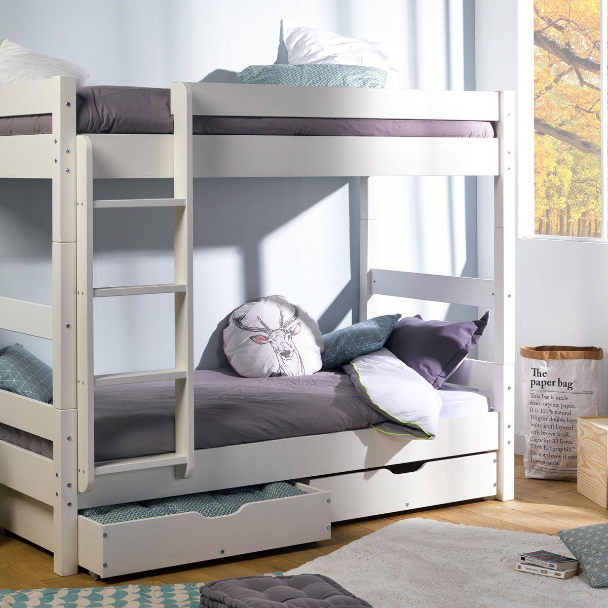 chambre enfant  collection wood  lit superposé lit