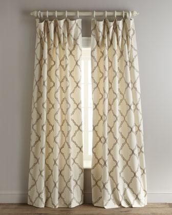 drapes moroccan tile curtains ivory and brown moroccan tile drapes