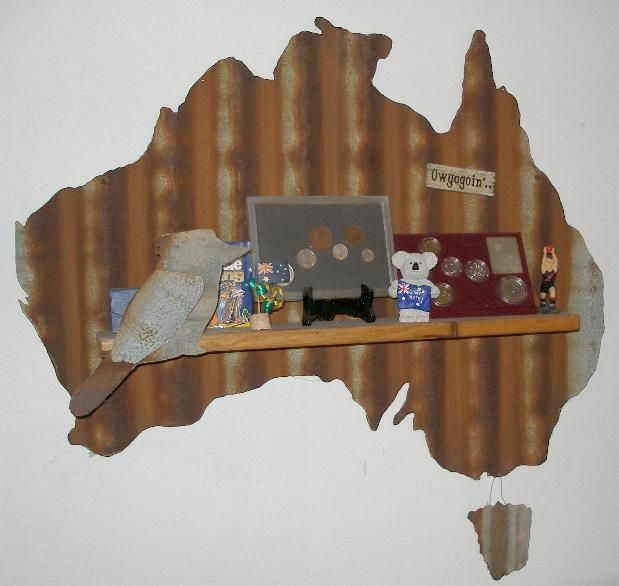 My Corrugated Iron Map Of Australia I Bought At A Craft Market Here In Melbourne Rustic Art Metal Yard Art Tin Art