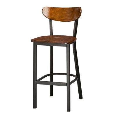 156 Regal Frame Moon Seat Back Bar Stool Reviews Wayfair Farmhouse Bar Stools Bar Stools Stool