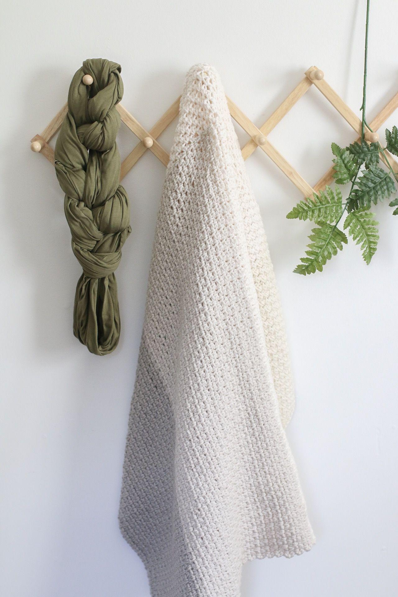 Neutral Color Block Crochet Blanket Pattern | blankets | Pinterest
