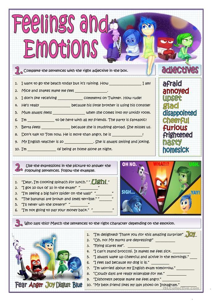 Feelings And Emotions Esl Teaching Pinterest Feelings English