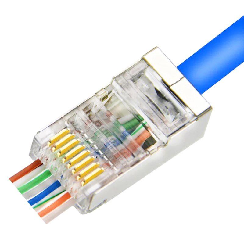 EZ RJ45 FTP CAT5E CAT6 CONNECTOR | Cable plug, Ethernet cable, Rj45Pinterest