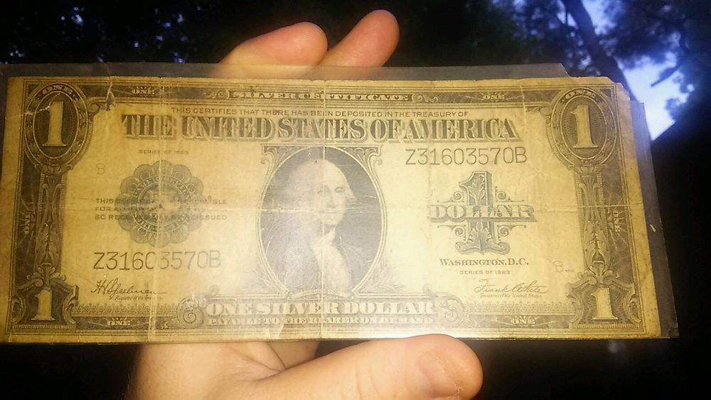 LARGE 1923 $1 DOLLAR BILL SILVER CERTIFICATE BIG CURRENCY NOTE OLD ...