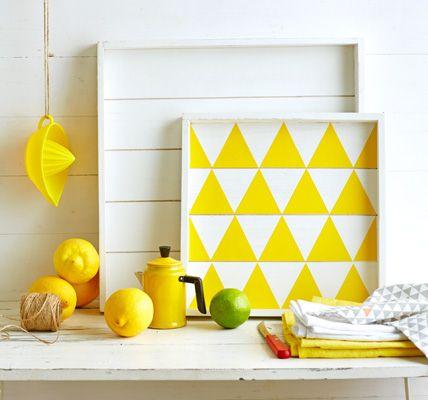 Deko und Accessoires in Gelb Klebefolie, Gelb und gelb Küchen - wohnzimmer gelb weis