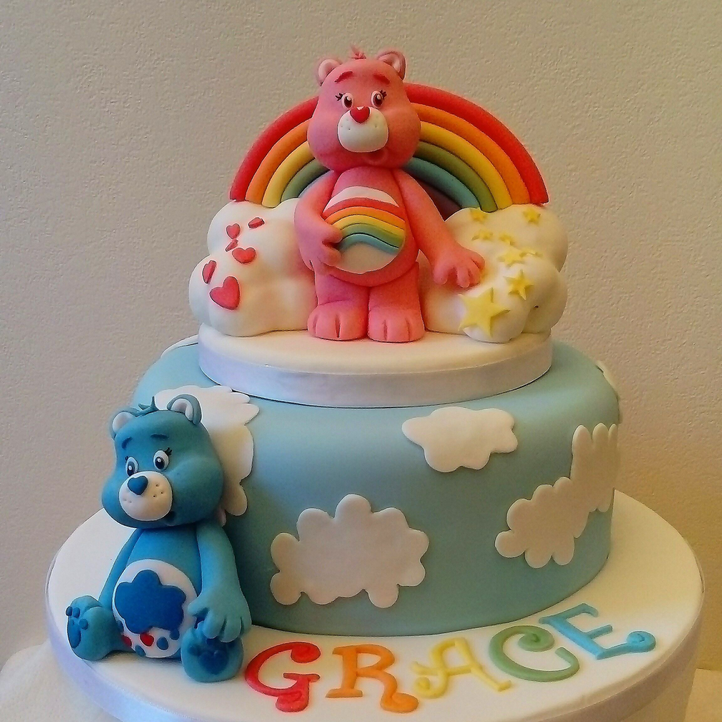 Astonishing Care Bears Birthday Cake Care Bear Cakes Birthday Party Cake Birthday Cards Printable Benkemecafe Filternl