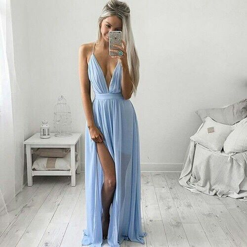 Imagen de dress, fashion, and blue