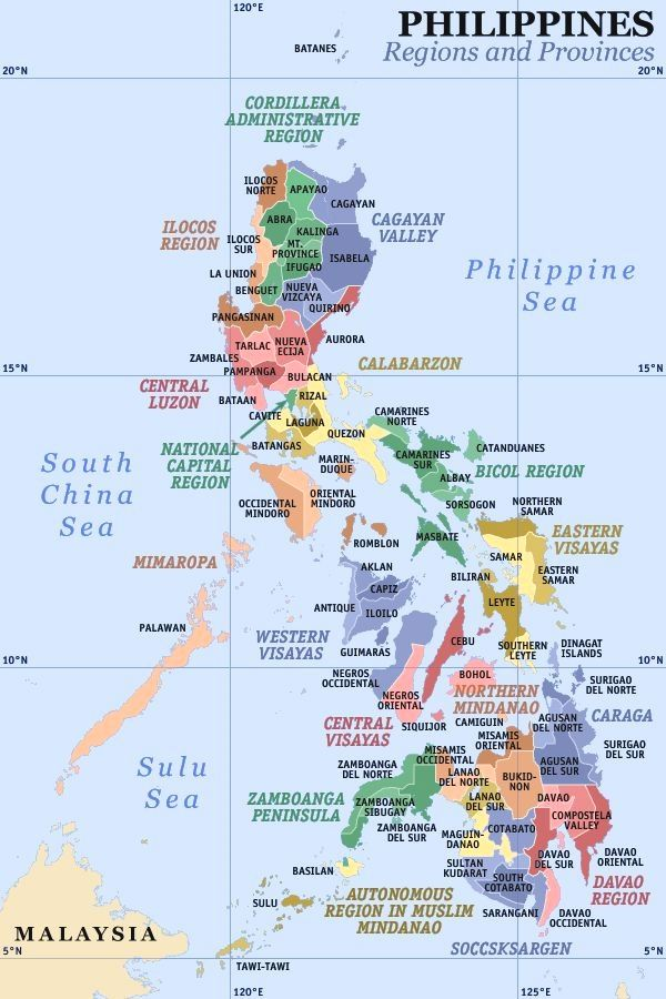 Philippines Travel Philippine Province Regions Of The Philippines