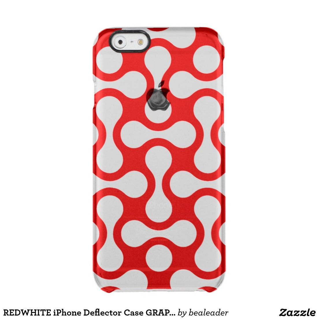REDWHITE iPhone Deflector Case GRAPHIC ART Uncommon Clearly™ Deflector iPhone 6 Case