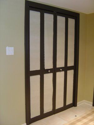 Inexpensive Closet Doors Makeover. With Inexpensive Materials You Can  Change The Look Of Your Boring