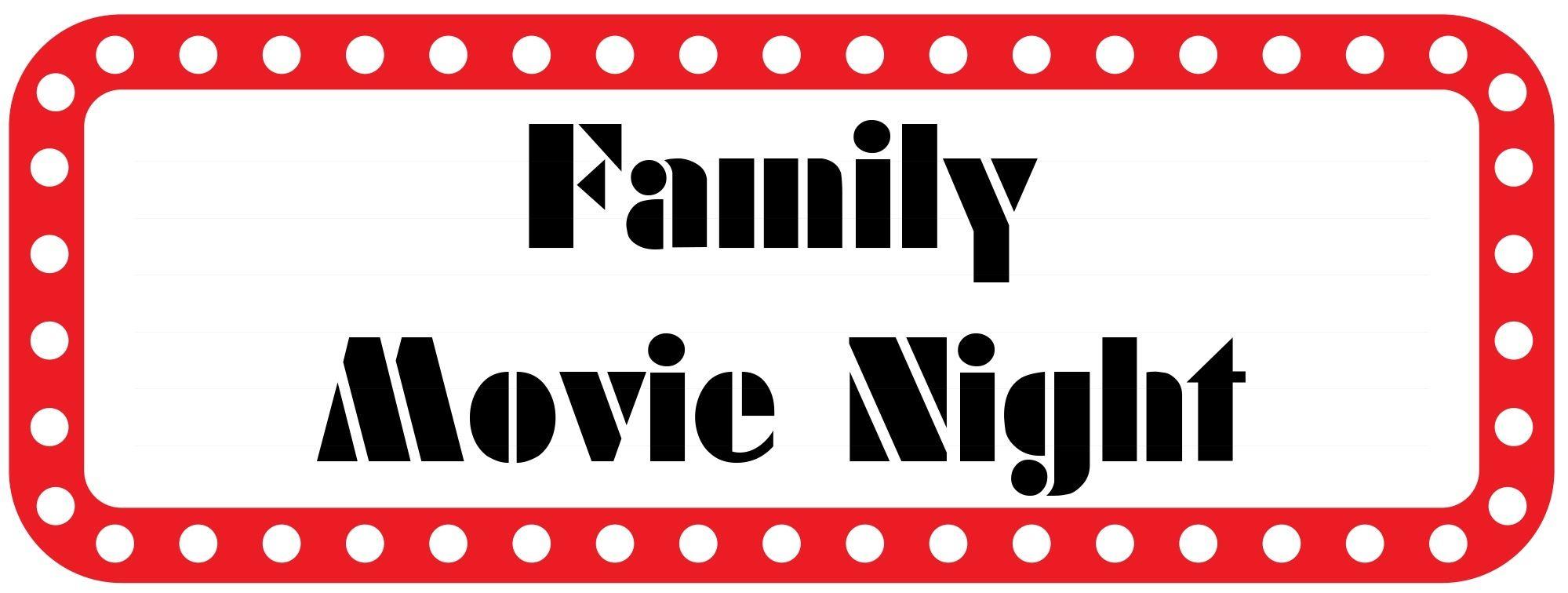 Family movie night pto clip art pinterest