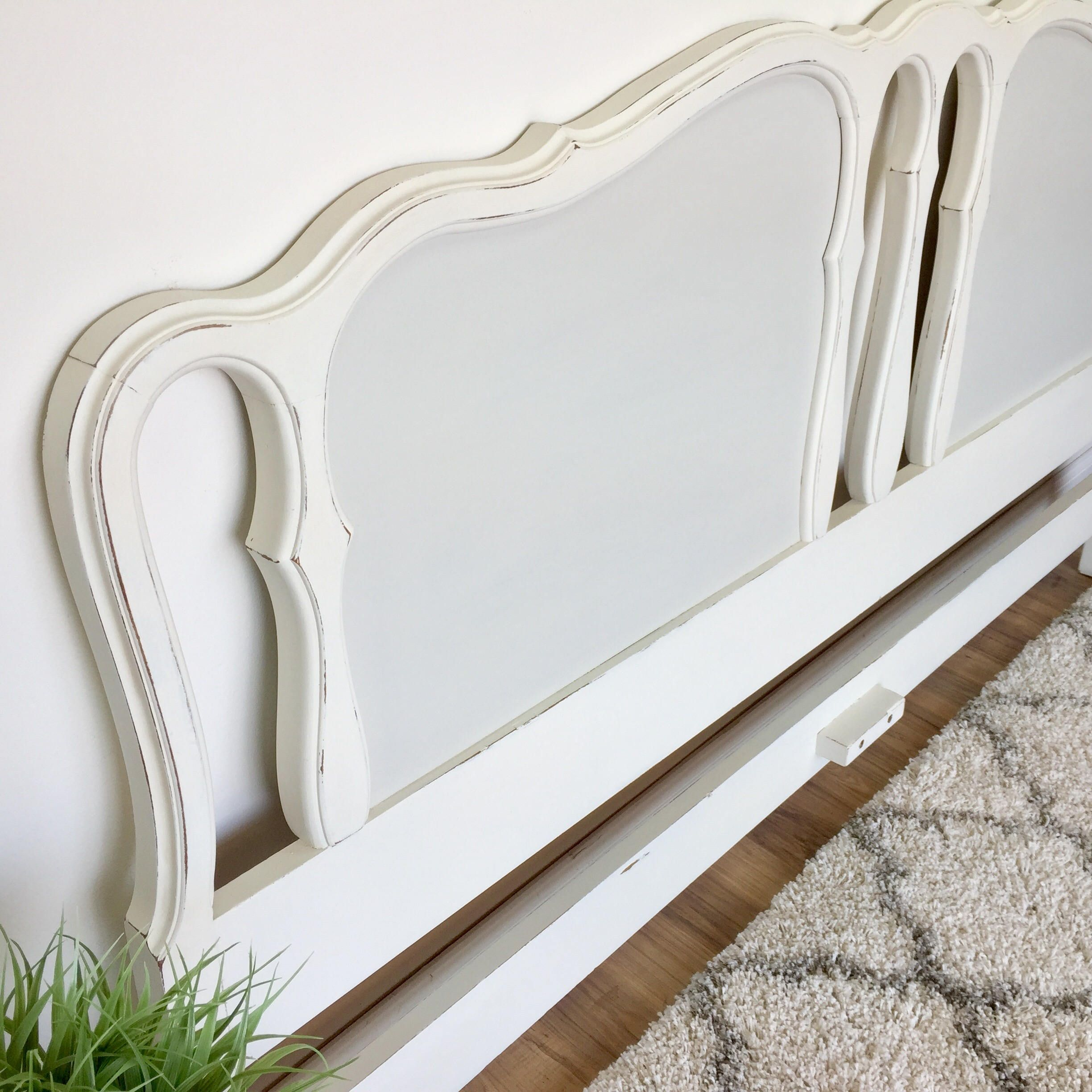White king headboard french provincial vintage u antique