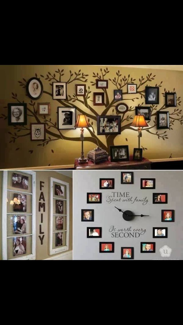 Family picture wall gallery Diy Pinterest Murales, Para el