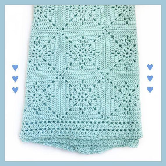 Crochet Blanket Pattern - Arielle\'s Square - Baby Blanket - Easy ...