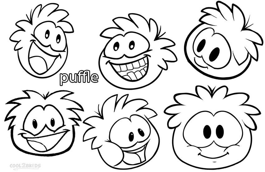 Printable Puffle Coloring Pages For Kids