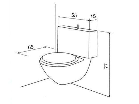 15 plans de WC indépendants ou dans la salle de bains - les meilleurs plans de maison