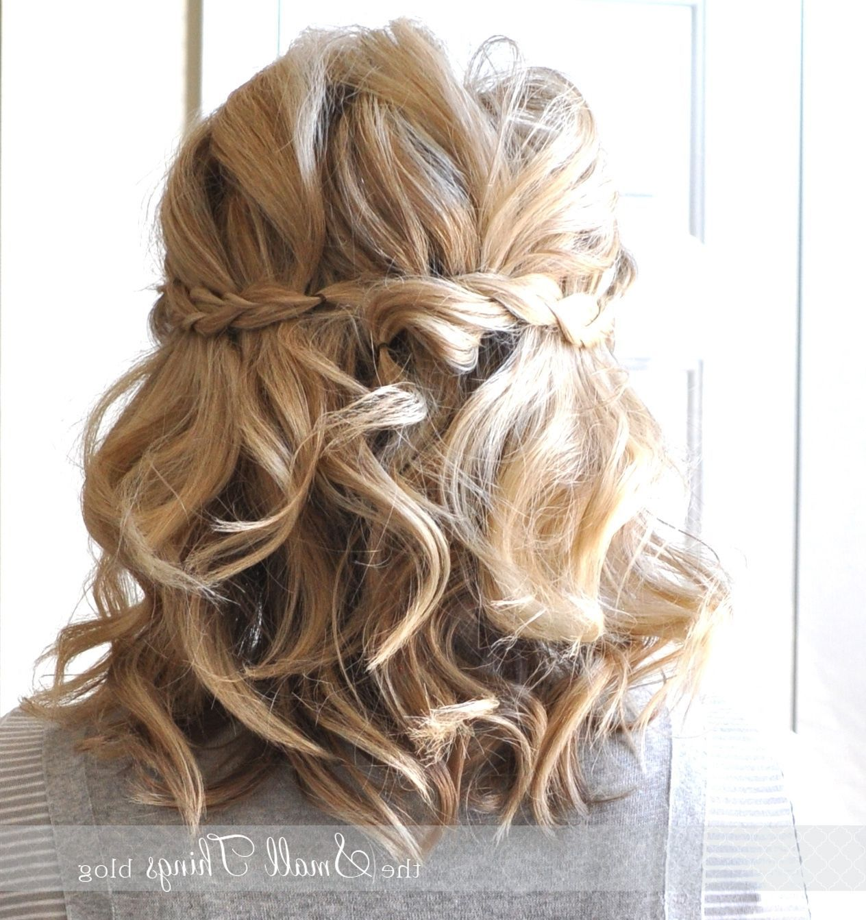 Half Up Half Down Wedding Hairstyles For Short Length Hair In 2020