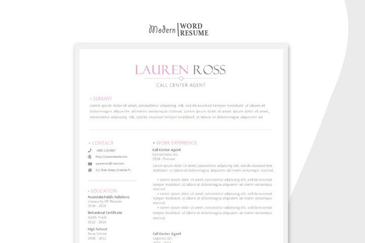 Call center agent resume template microsoft word 698312