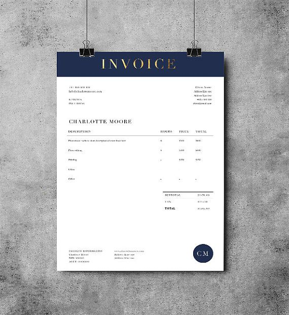 Invoice Design - Print Layouts Pinterest Template, Corporate - free invoice design