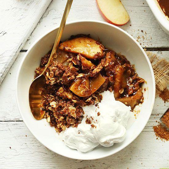 The Best Vegan Apple Crisp Minimalist Baker Vegan Apple Crisp Vegan Thanksgiving Recipes